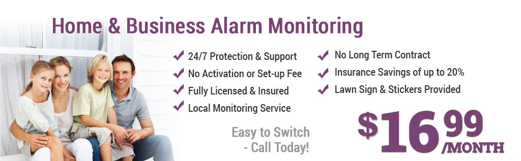 Local alarm monitoring $12.99 month
